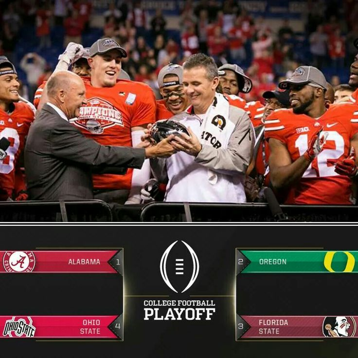 OHIO STATE BUCKEYES ARE IN the first college football playoff!