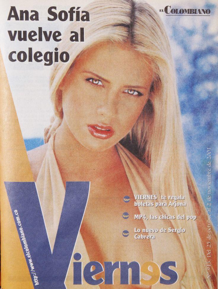 Los inicios de Ana Sofía Henao en nuestra Revista Viernes.