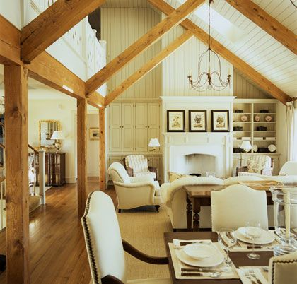 17 best images about post and beam living on pinterest for Open beam house plans