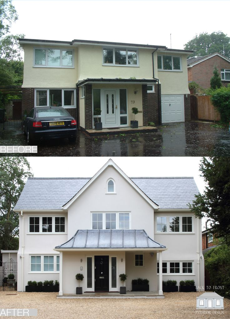 The Tring Project by Back to Front Exterior Design  Ugly 1960's house externally remodelled and extended to create a traditional front facade and sleek modern rear with open plan living
