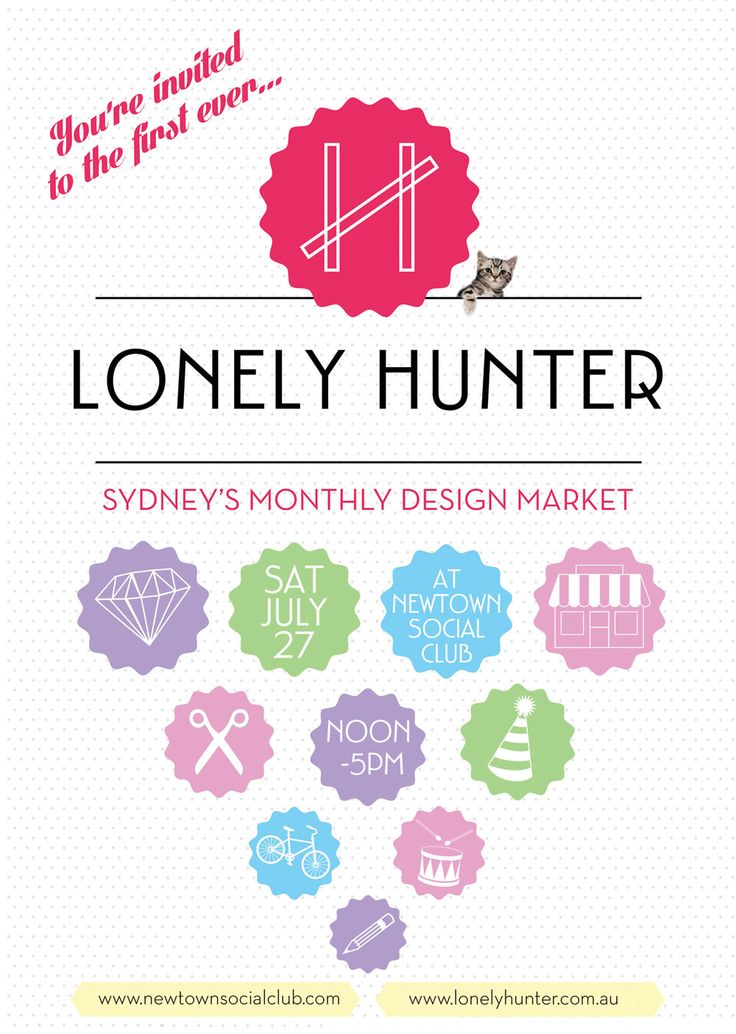 The lonely hunter - craft/design market, Newtown