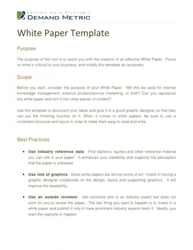 Essay On Health And Fitness White Paper Outline Essay Outline Template Paper Outline Report Template Sample  Essay English Essay About Environment also High School Personal Statement Essay Examples Pin By Drive On Template  Templates White Paper Sample Resume Healthy Eating Essay