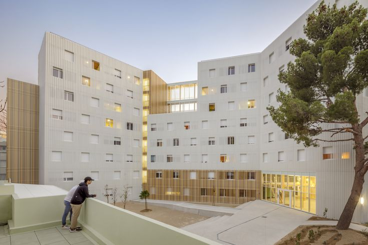 Image 1 of 27 from gallery of Lucien Cornil Student Residence / A+Architecture. Photograph by Benoit Wehrlé