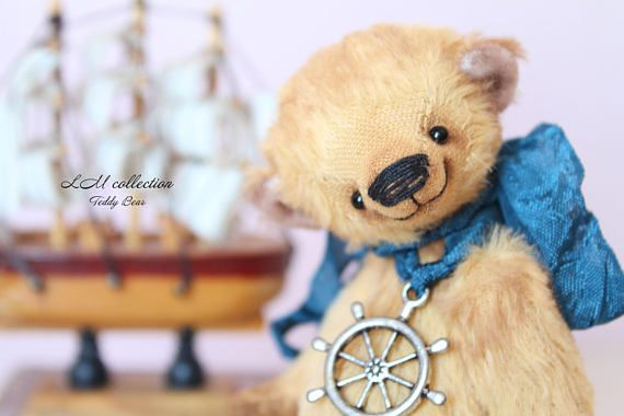 Christmas Teddy Bear style Artist German viscose