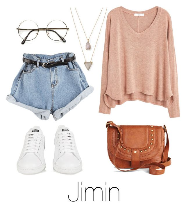 """""""Ideal Type Fashion: Jimin"""" by btsoutfits ❤ liked on Polyvore featuring Panacea, MANGO and adidas"""