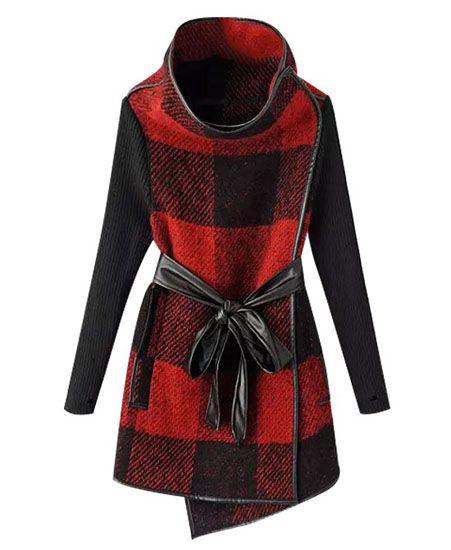 Style Stealer: Plaid Wool Wrap Coat