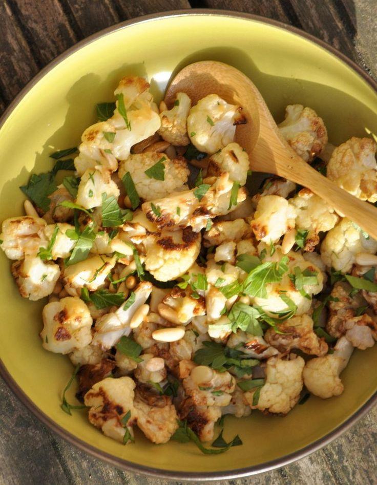 Salade de chou fleur roti aux amandes