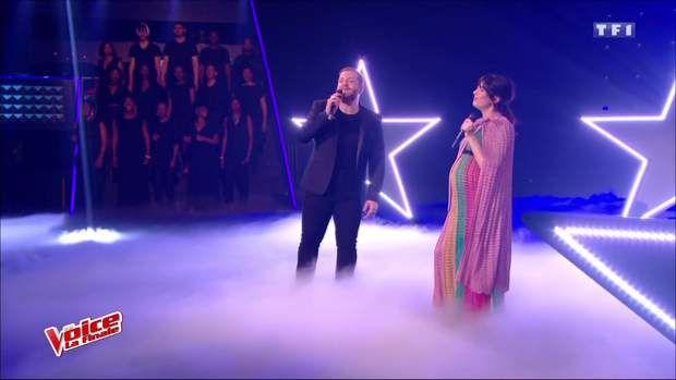 Nolwenn Leroy enceinte sur la finale de The Voice avec Nikola en duo