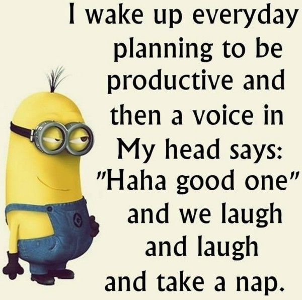 I Wake Up Planning To Be Productive