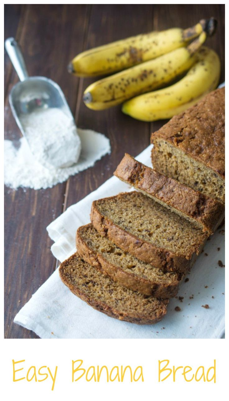 A ridiculously easy but DELICIOUS banana bread recipe. Perfect. Every. Time.