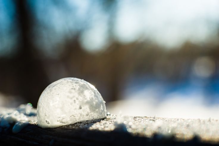 Crystalized - Week 2 photo challenge.  It was cold today (-25C) so I made bubbles as the foreground for my landscape.