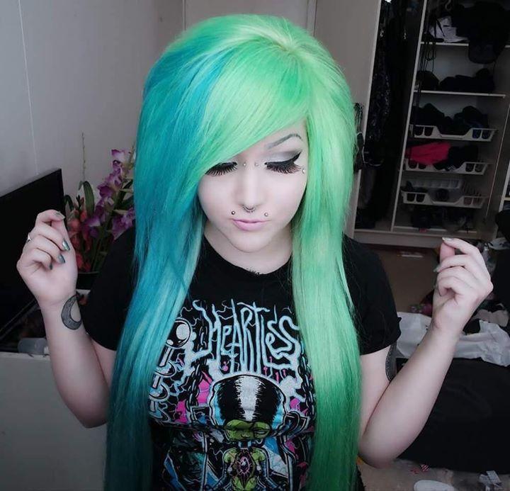 Pin By Karma Porter On Hair Color Hair Styles Neon Hair Yellow Hair
