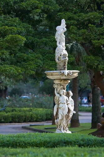 Fountain in Praça da Liberdade. Liberty Square is the main square in the city of Belo Horizonte, Brazil. Known to the locals as Beagá (pronounced 'bay-ah-gah'), Belo Horizonte was named for its beautiful view of nearby mountains.