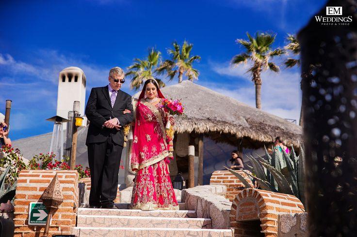 Hindu Wedding at Hotel Sunset Da Mona Lisa ,Los Cabos, México.  #emweddingsphotography #destinationweddings