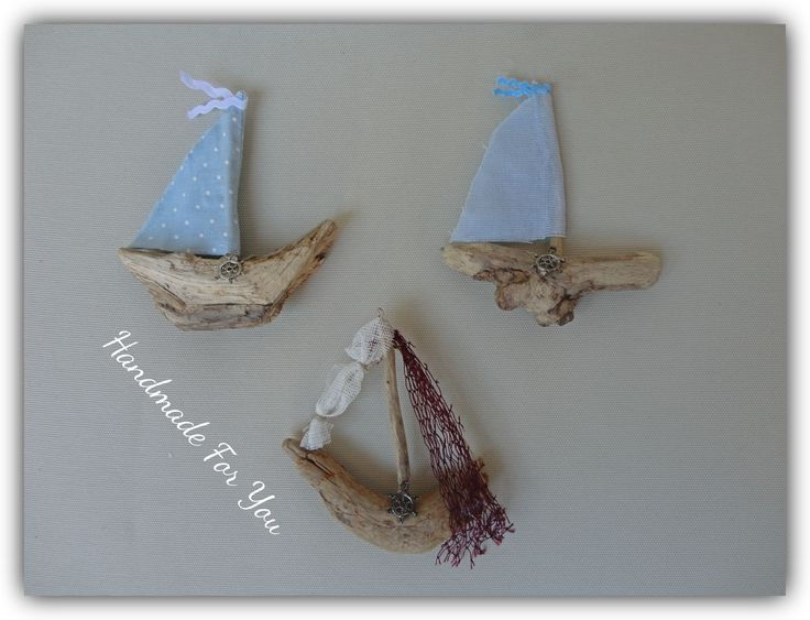 driftwood mini ships. Driftwood magnets