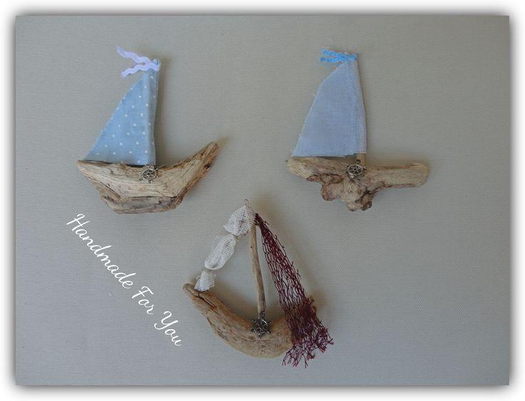 driftwood mini ships. Driftwood magnets