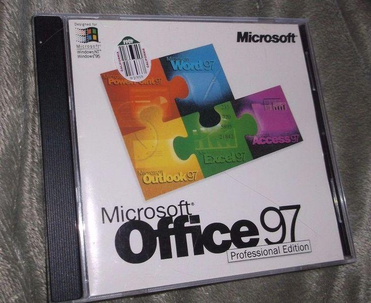 Microsoft Office 97 Developer Edition CD with Key - Vintage Software #Microsoft