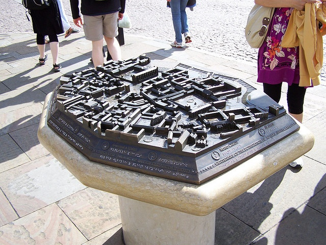 || Braille Map of the University of Cambridge. Several ...