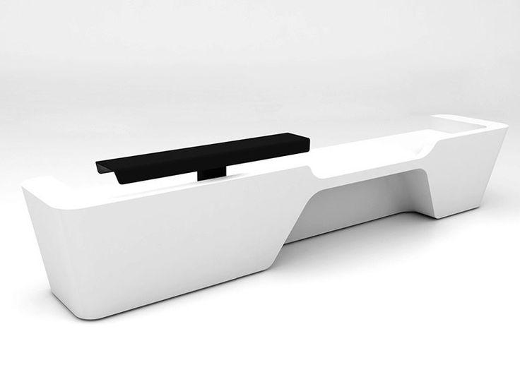 Modular Krion® reception desk MONO | Configuration 4 Mono Collection by Isomi | design paul crofts