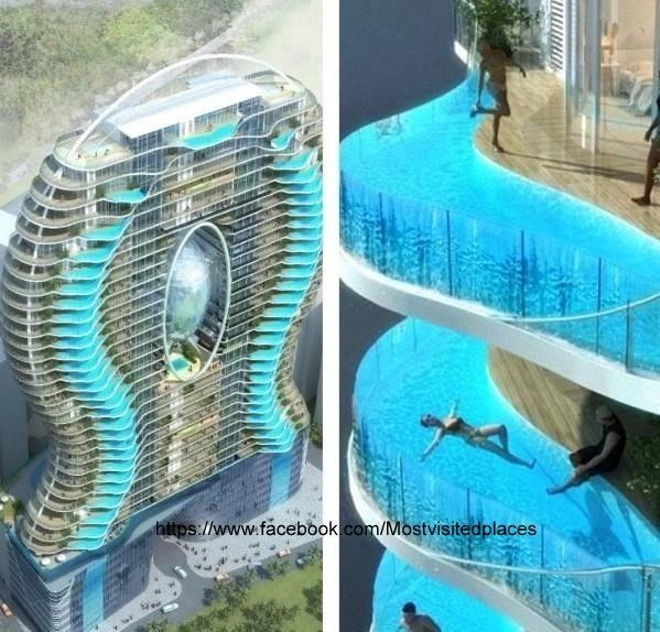 Zwembalkons in Mumbai, India. Each room has its own pool   https://www.facebook.com/Mostvisitedplaces