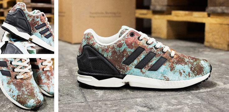 """db2dc42a6a5e5 ... Sneakersnstuff x adidas Originals ZX Flux """"Aged Copper"""" ..."""