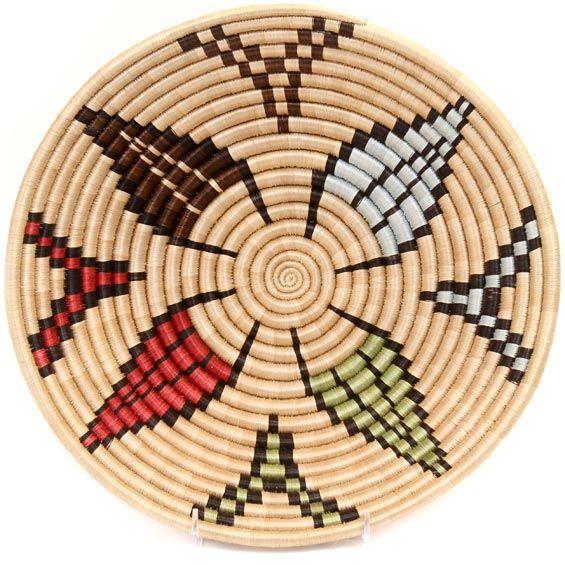 African Basket - Rwanda Sisal Bowl -12 Inches Across - #33805