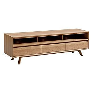 Mix up your Scandinavian with a touch of retro styling by showcasing the Tango Entertainment Unit, Natural from Life Interiors. Zanui