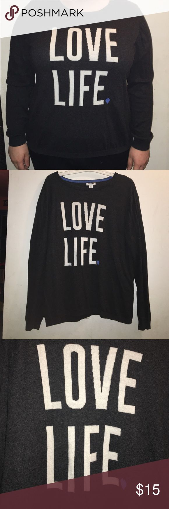 Love Life Sweater This Old Navy sweater is so soft and comfortable. Good for winter and it's also a little light Old Navy Sweaters Crew & Scoop Necks