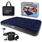 Double Airbed Inflatable Camping Blow Up Mattress Air Bed And Electric Pump HOT