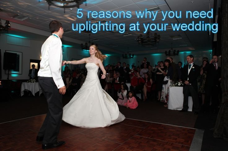 Find out how uplighting enhances your wedding - DJ Martin Lake