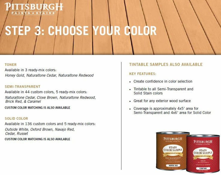 Exterior Stains From Pittsburgh Paints Are Great For Staining Your Deck Or Wood Stain Project