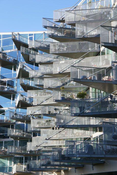 VM Houses, 230 Dwellings in Ørestad, Copenhagen, Denmark by JDS Architects + BIG - Bjarke Ingels Group