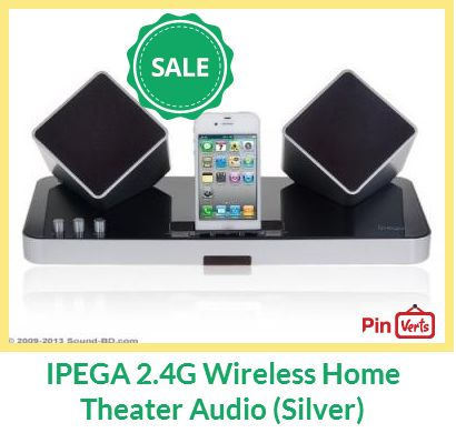IPEGA 2.4G Wireless Home Theater Audio for iPhone/ iPad/ iPod, PS VITA, PC (Silver).  Check out at http://pinverts.com/IPEGA-24G-Wireless-Home-Theater-Audio-Silver_hfy0bd7
