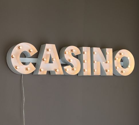 Lit Casino Sign Pottery Barn This Is Sooo Nice Too Bad I
