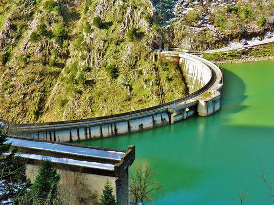 Plastira Lake.The Dam.Karditsa Greece