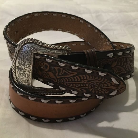 western leather belt western style leather belt space on