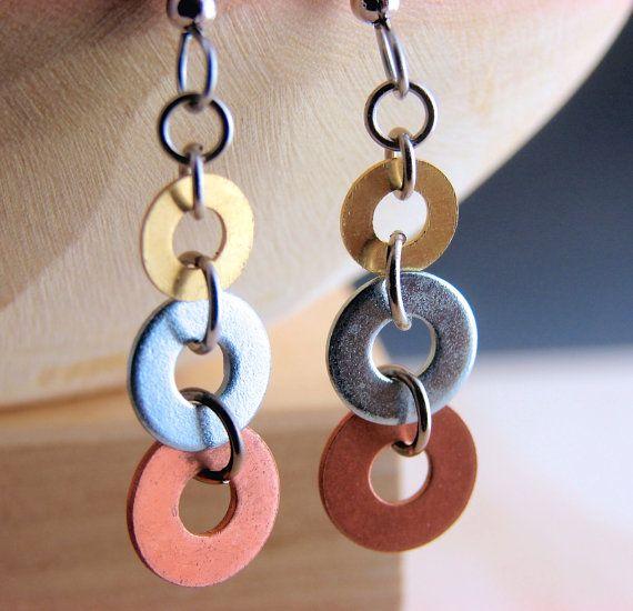 Lange Dangle Earrings gemengde metalen €14.71 - NV