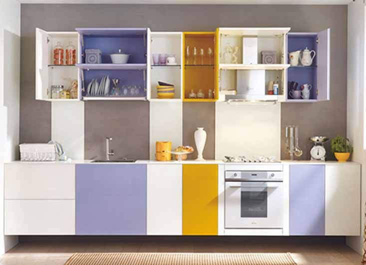 Painting Kitchen Cabinets Tips And Ideas Colorful Painted Kitchen Cabinets Design Ideas