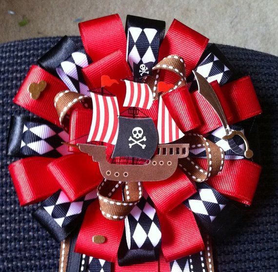 Pirate Baby Shower Corsage on Etsy, $25.00