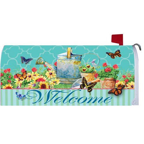 Mailbox Covers - Watering Can Butterflies 1964MM Magnetic Mailbox Cover Wrap *** Read more at the image link. (This is an Amazon affiliate link)