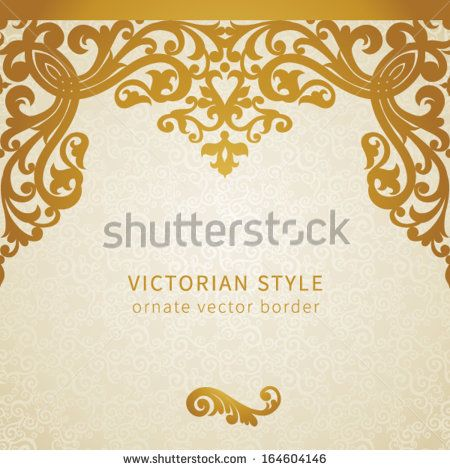 Vector seamless border in Victorian style. Element for design. You can place the…