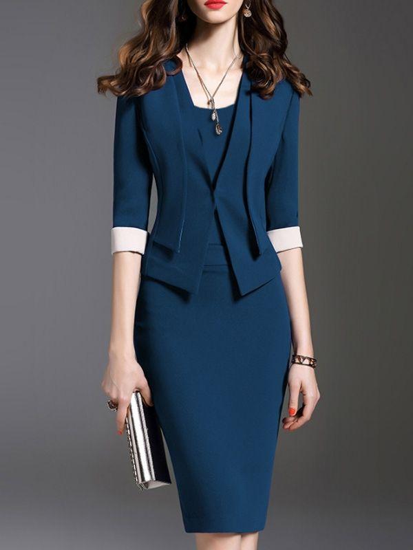 Flash Sale Solid Color O-Neck Half Sleeves Plus Size Dresses 2