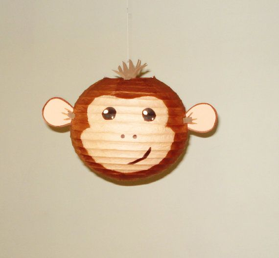 Monkey Paper Lantern. Safari Party Decorations by nicedecorations