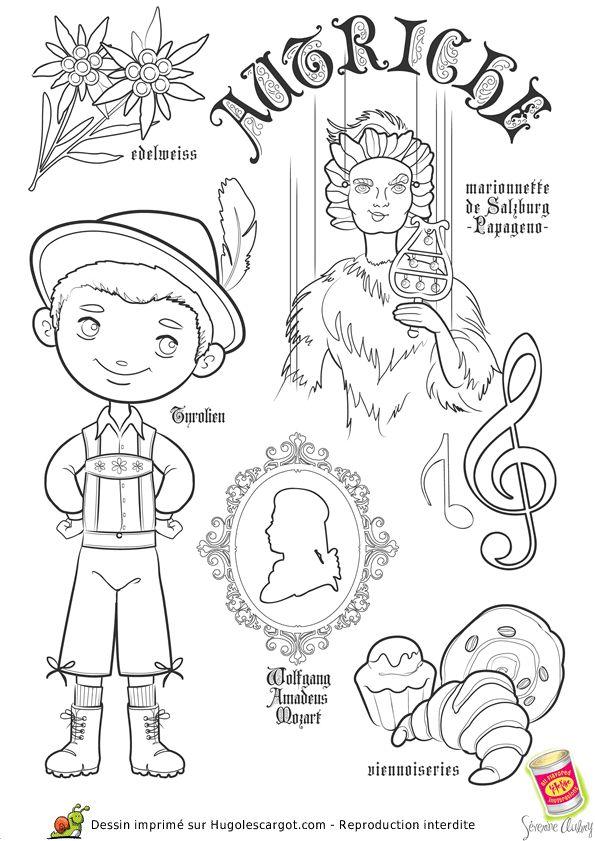 Coloriage / dessin enfant Autriche