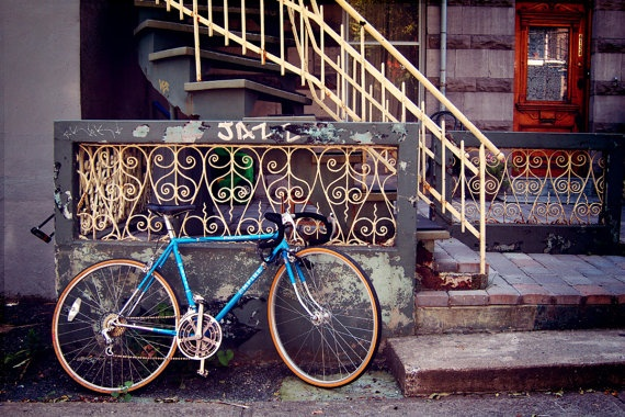 A Patient Bicycle: Montreal Fine Art Photograph 12 x 8 simplistic but captures it perfectly