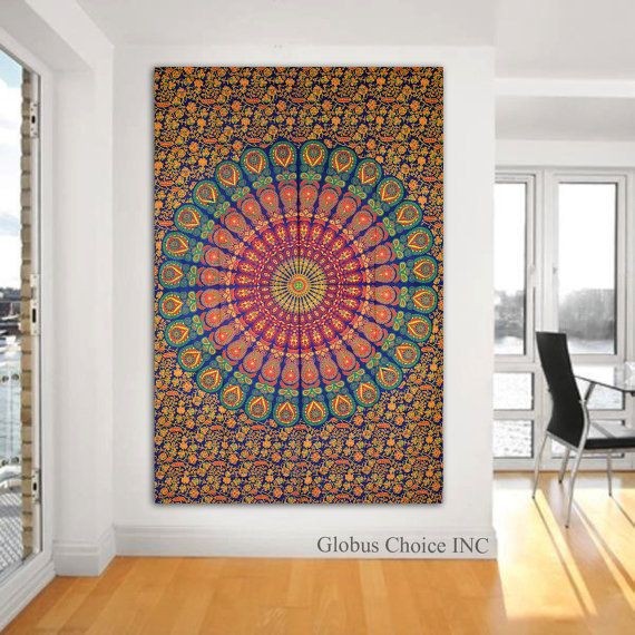 Wandbehang Mandala Wandteppiche Wandbehang von GLOBUSCHOICEINC