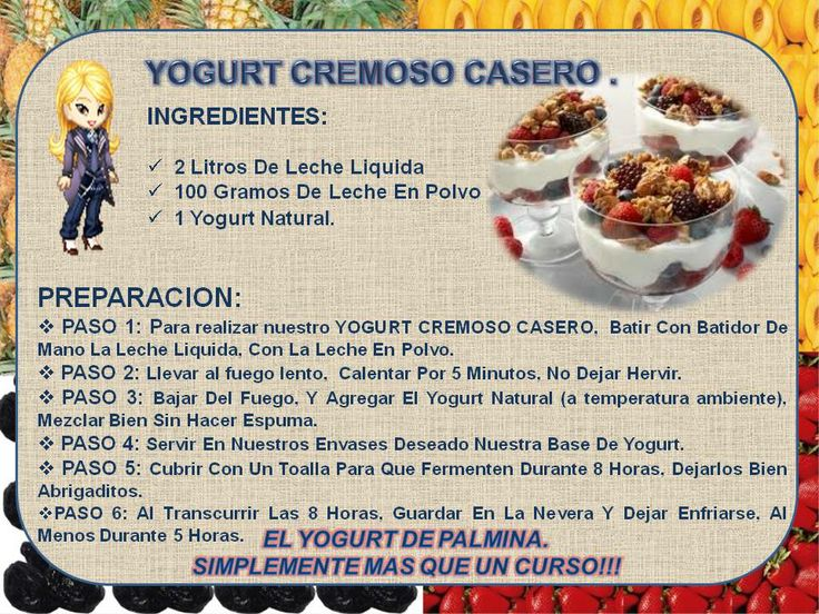 Yogurt Cremoso Casero Postres Pinterest Yogurt