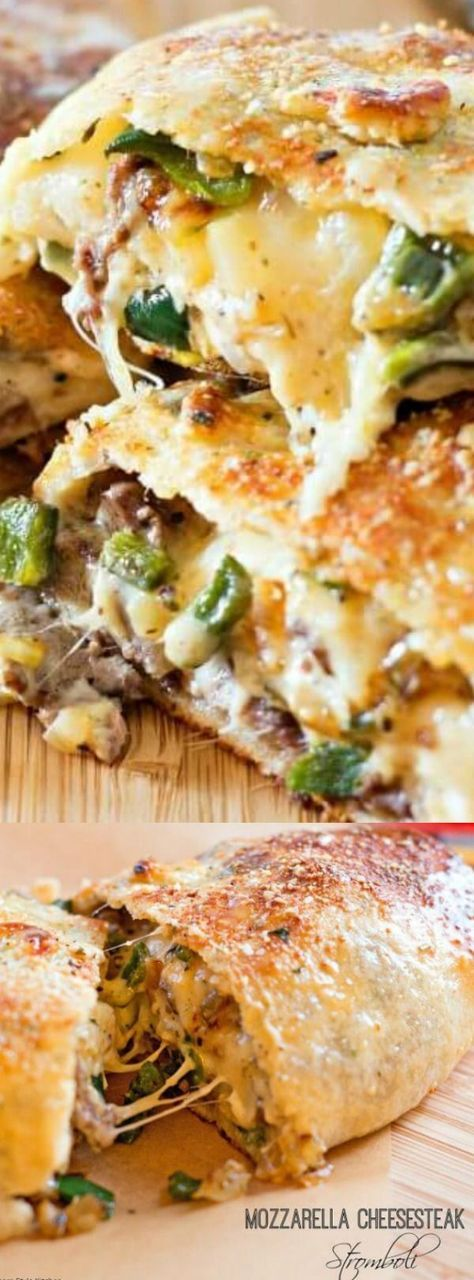 Mozzarella Cheesesteak Stromboli - unlike any other stromboli you've had before. It's a deliciously scrumptious family style Cheesesteak dinner that you can enjoy with your family for dinner. : Melissa's Southern Style Kitchen - bestblogrecipes