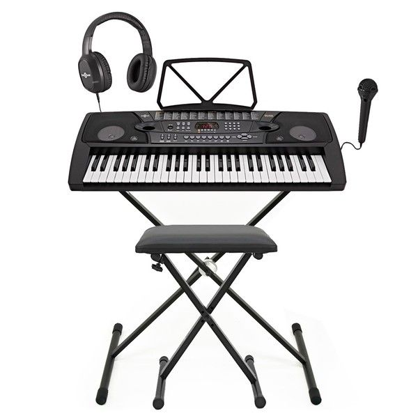 Mk 2000 54 Key Portable Keyboard By Gear4music Complete Pack Cours De Piano Apprendre Le Piano Facilement Apprendre à Jouer Du Piano