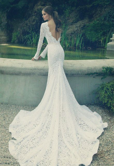 Lace wedding dress with sleeves tumblr